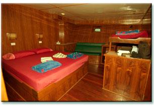 Таиланд дайвинг сафари яхта M/V M/V Black Manta каюта с двуспальной кроватью