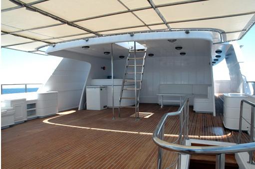 Египет дайвинг сафари яхта M/Y Blue Fin sun deck