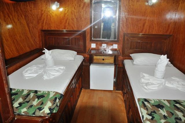 дайвинг сафари мальдивы двухместная каюта на яхте m/y eagle ray
