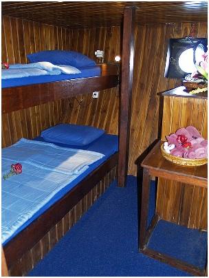 Индонезия дайвинг сафари яхта S/M/Y Felicia каюта