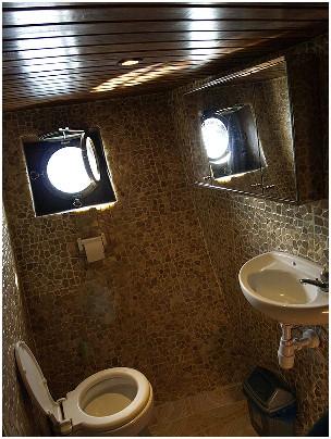 Индонезия дайвинг сафари яхта S/M/Y Felicia санузел
