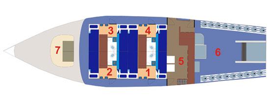Таиланд дайвинг сафари яхта M/Y Giamini main deck