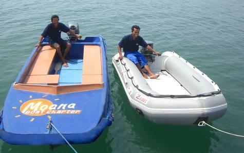 Индонезия дайвинг сафари яхта S/M/Y Moana зодиак