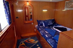 Египет дайвинг сафари яхта M/Y Obsession каюта с двухспальной кроватью