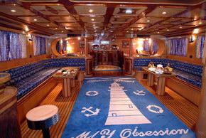 Египет дайвинг сафари яхта M/Y Obsession кают-компания