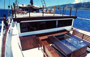 Индонезия дайвинг сафари яхта S/M/Y Ondina top deck