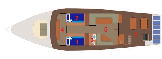 Таиланд дайвинг сафари яхта M/Y Giamini upper deck